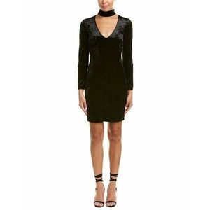 Bardot 4 Dress Black Choker Velvet Sheath 1219